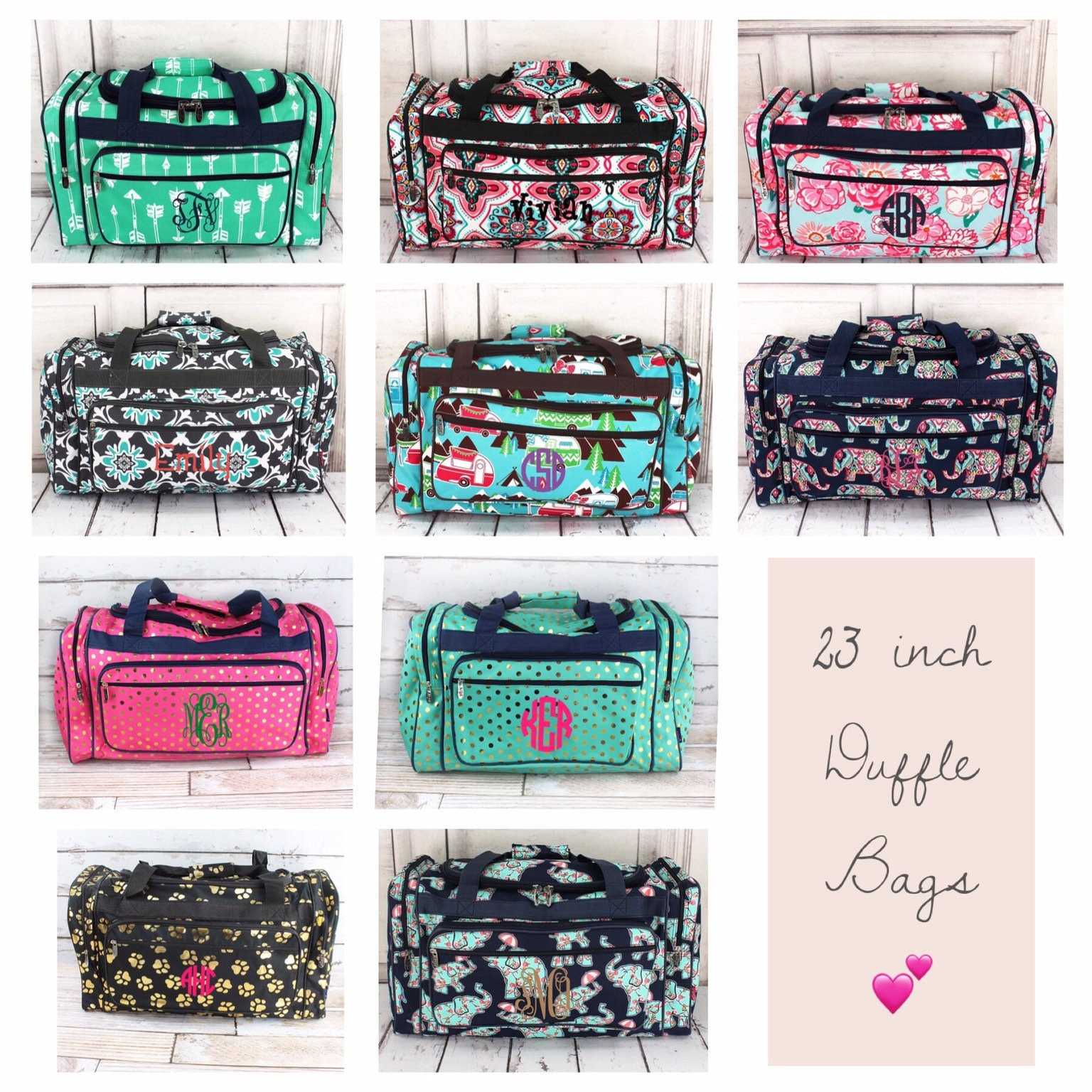 719e96d22 Personalized Duffle Bags , Monogrammed Duffle Bag, Monogrammed Weekender, Girls  Duffle Bag, Dance Bag, Kids Duffle Bag, Carry On Bag