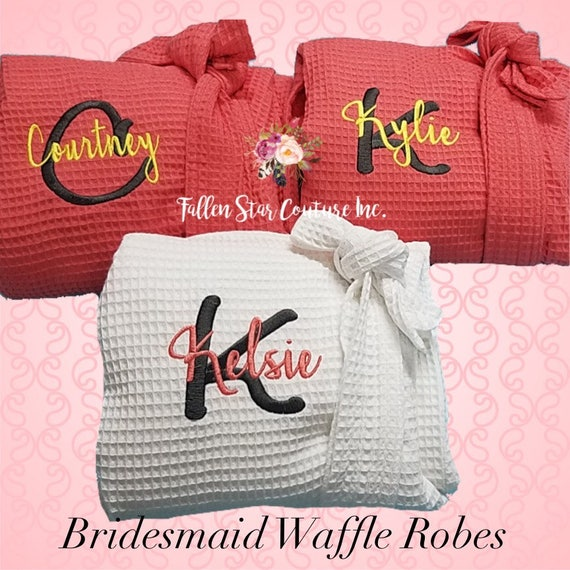 Waffle Robe Bridesmaid , WAFFLE wedding robes , bridesmaid gifts , personalized wedding robes , monogrammed robe