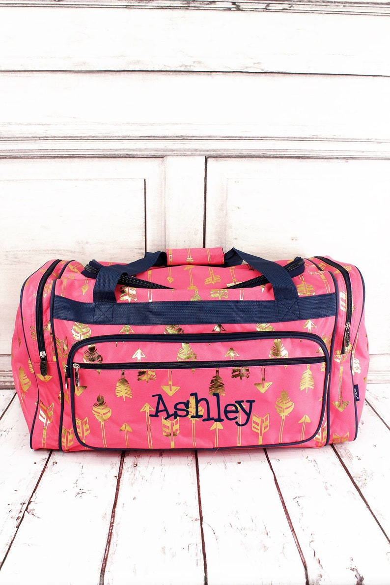 c8eda69b5229 Arrow Print Weekender Monogrammed Duffel Teen Duffle Bag