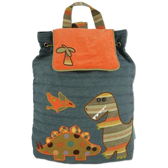 Clearance , Dinosaur Backpack , toddler back back , toy bag , preschool backpack , stephen joseph backpack , personalized kids bag, Quilted