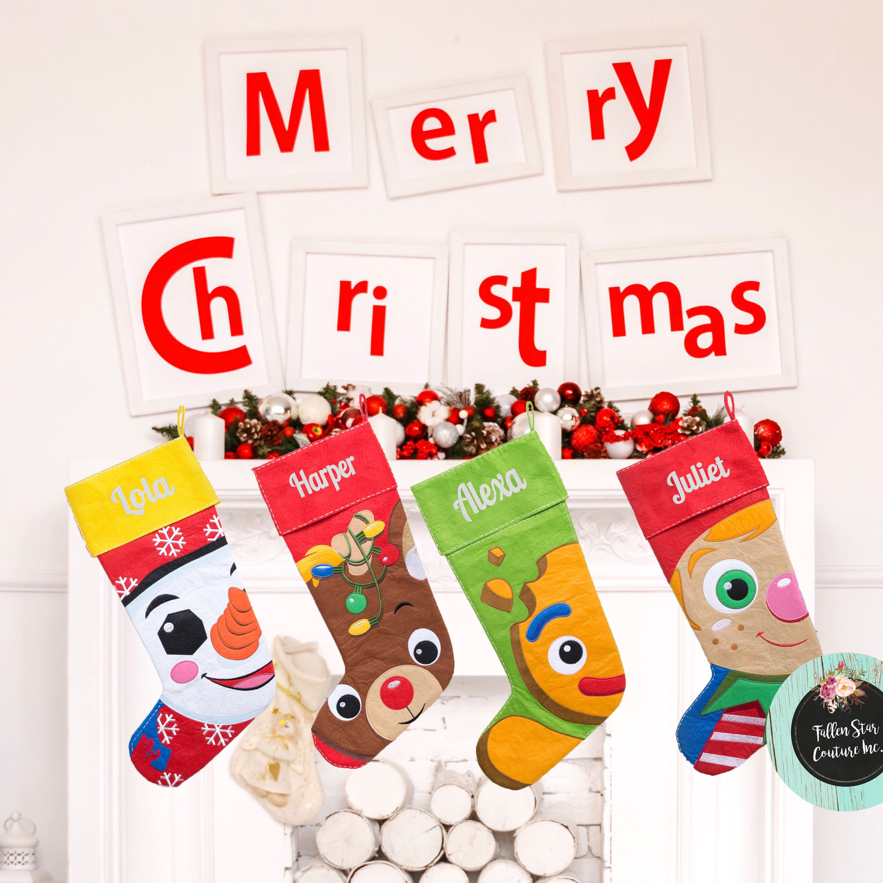 large personalized christmas stocking christmas tree stocking family christmas stockings kids stocking kids christmas stocking - Christmas Stockings For Kids