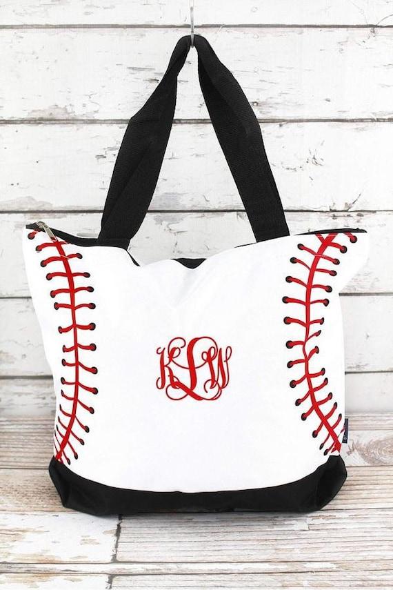 Personalized Baseball tote bag , baseball moms tote bag, sports tote, sports mom bag, monogrammed baseball tote, womans baseball tote