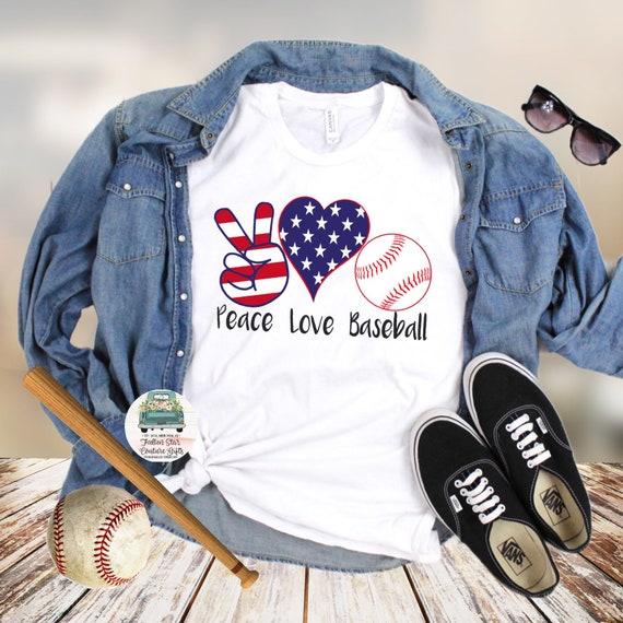 Baseball Mom Shirts, Baseball Mom ,Baseball Shirt, Baseball Shirts, Mom Shirt, Mom Shirt, Baseball Mom , Peace Love Baseball
