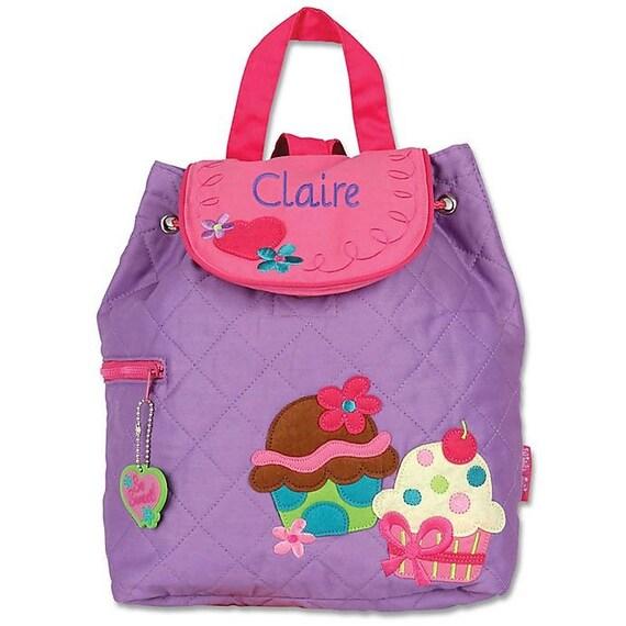 Clearance ,Cupcake Backpack , toddler back back , toy bag , preschool backpack , stephen joseph backpack , personalized kids bag, Quilted