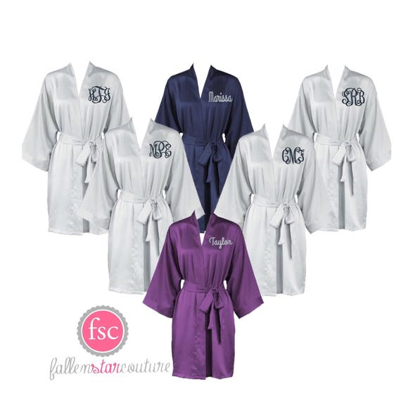 Matte Bridesmaid Robes, Bridal Party Robes, Bridesmaid Gifts , Personalized Robes, Monogrammed Robes, Navy Robe, Coral Robe, Champagne Robe