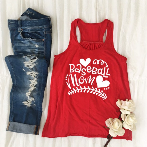 Baseball mom tank top, baseball mom T-shirt, gifts for baseball mom, gifts for her, travel ball baseball mom shirts, team mom shirts