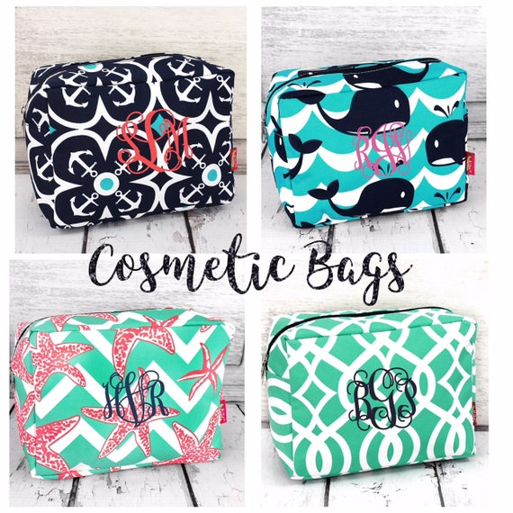 Cosmetic bag , bridal party gifts , bridesmaids gifts , makeup bags , bridesmaid makeup bags