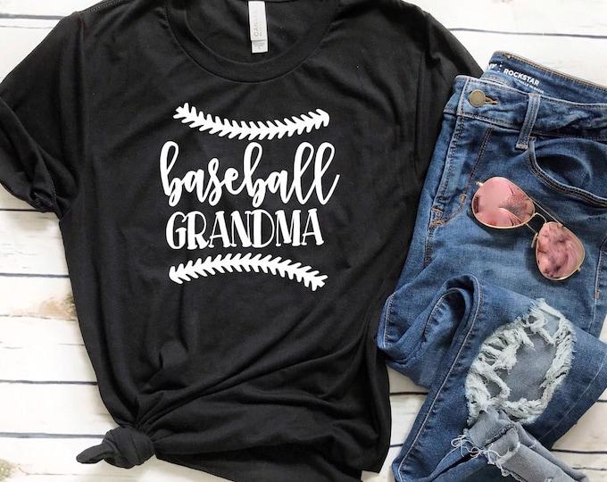 Baseball grandma shirt, baseball grandma T-shirt, Sports grandma apparel, baseball grandma apparel, gifts for grandma