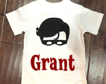 Robin Shirt - Custom Name Optional - You choose sleeve length/name/name fabric, superhero sidekick robin custom boys mask costume