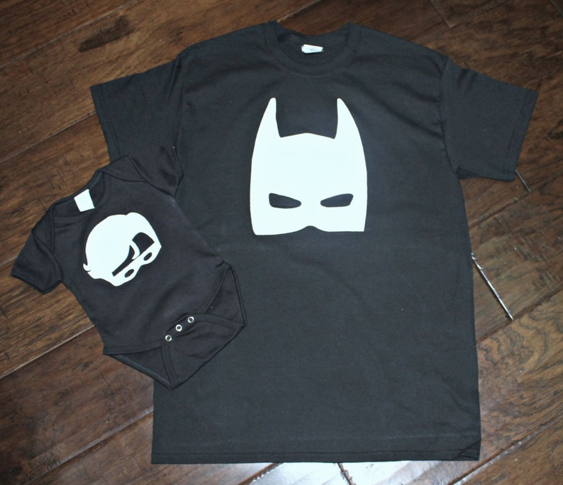 50e33ff7 Batman and Robin Matching Dad and Son Shirts New Baby | Etsy