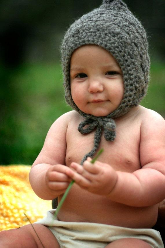Bonnet pour bébé bio n tricot bonnet pour bébé gris bonnet   Etsy dc0439d3bb9
