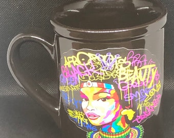 Natural Hair Coffee Mug, Afro American Coffee Mug