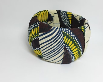 African Fabric  Bangle Bracelet ,African Accessories