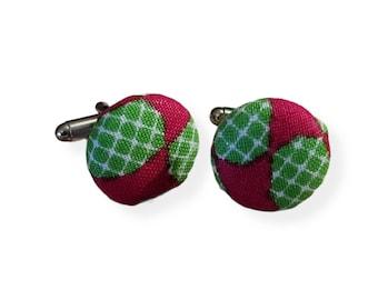 Afrocentric, Cufflinks, Ankara cufflinks, Father's Day,Groom Gift,Kente