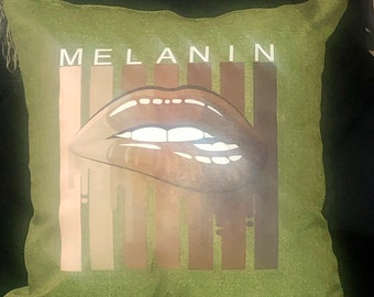 Melanin 2 Afrocentric Pillow cover,18x18 ,African Pillow cover,Afrocentric Home Decor
