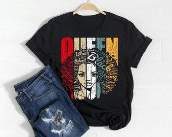 Queen Word Art T shirt  Free Shipping ,Nubian Sensations