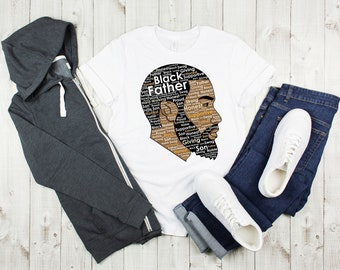 Black Father T Shirt T shirt Free Shipping Nubiansensations