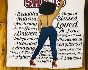 She Is T -Shirt Free Shipping ,Nubian Sensations