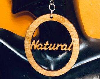 Afrocentric Wood Earring Wood Dreads   Hoop Earrings, Hoop Earrings, Dangle Earrings, Ethnic Earrings,