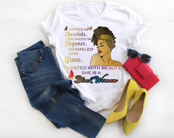 Dipped in Chocolate Bronze in Elegance T -Shirt Free Shipping ,Nubian Sensations