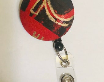 African Fabric badge ,Bling badge holder,Id badge reel,name,medical reel,Afo