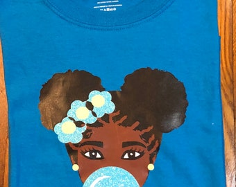 Girl Natural Hair T Shirt, Free Shipping,Nubian Sensations