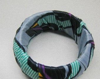 African Fabric  Bangle Bracelet ,African Accessories  SRAJD