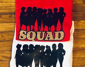 Ladies night Out Squad T shirt  -Adult  Free Shipping ,Nubian SensationsLadies night