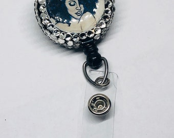 Bling badge holder,Id badge reel,name,medical reel,Afo