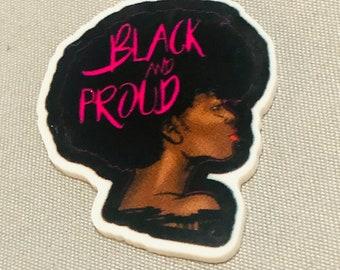 Black and Proud Afro Planar Resin Flatback ,Resin Flatback