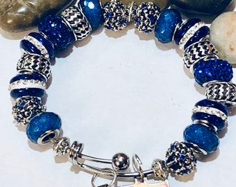 Adjustable African  Charm Bracelet _Diva, nubiansensations, Stainless Steel Adjustable Bracelet