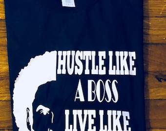 Men Hustle Like a Boss T shirt