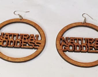 Natural GODDESS  African American Woman Earring / Wood Jewelry/NubianSensations
