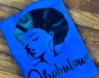 Afrobulous T Shirt Adult S,M,L,XL,XXL)    Free Shipping,Nubian Sensations