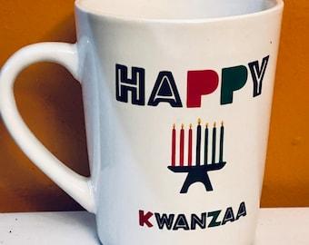 Kwanzaa ,Afrocentric  Coffee Mug, Afro American Coffee Mug,Black Woman Boss