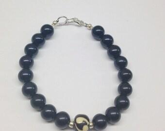 UniSex African Stretch Bracelet Agate African Bracelet