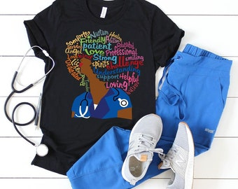 Afro Nurse T -Shirt Free Shipping ,Nubian Sensations