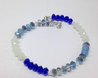 Blue Crystal  Ankle Bracelet