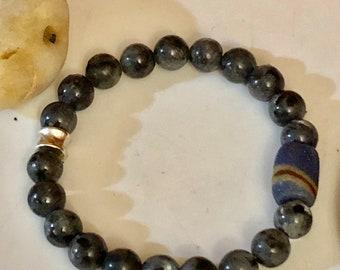 UniSex African Stretch Bracelet Agate