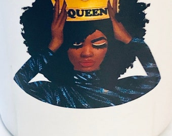 Afrocentric  Coffee Mug, Afro American Coffee Mug,Black Woman Queen