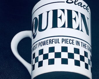 Black Queen Coffee Mug, Afro American Coffee Mug,Black Queen