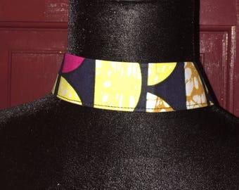 African print Choker Ethnic Necklace, Triabal Neckalce,  Nubian Sensations