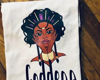 Goddess T- Shirt, Melanin , Natural ,Nubian Sensations