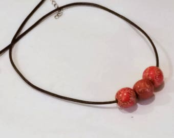 Unisex Afrocentric Necklace with Wood Beads