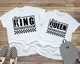 Black Queen and Black King  T shirt Free Shipping Nubiansensations