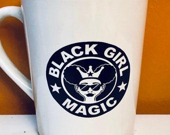 Afrocentric  Coffee Mug, Afro American Coffee Mug,Black Woman Boss