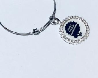 Adjustable African  Charm Bracelet _Melanin Magic nubiansensations, Stainless Steel Adjustable Bracelet
