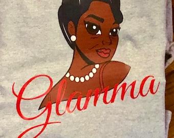 Glamma T- Shirt, Melanin , Gray ,Nubian Sensations
