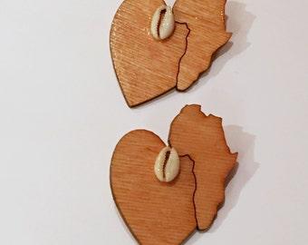 Heart of Africa African Inspired Earrings