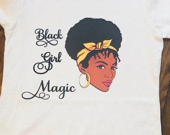 Black Girl Magic T shirt  -Adult  Free Shipping ,Nubian Sensations